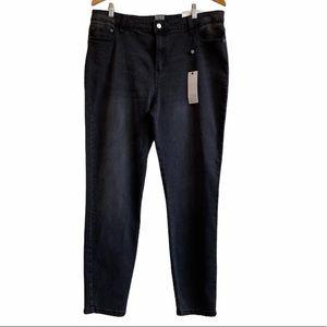 New - Black high rise skinny jean